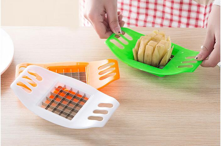 1PC Kitchen Candy Color Random Potato Garnish Cutter Peeler Spiral Vegetable Curly Slicer Kitchen Fries Stainless Steel OK 0798