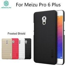 """Nillkin givré cas pour Meizu Pro 6 Plus (5.7 """") dur en plastique de couverture arrière avec Cadeau Protecteur D'écran pour Meizu Pro6 Plus"""