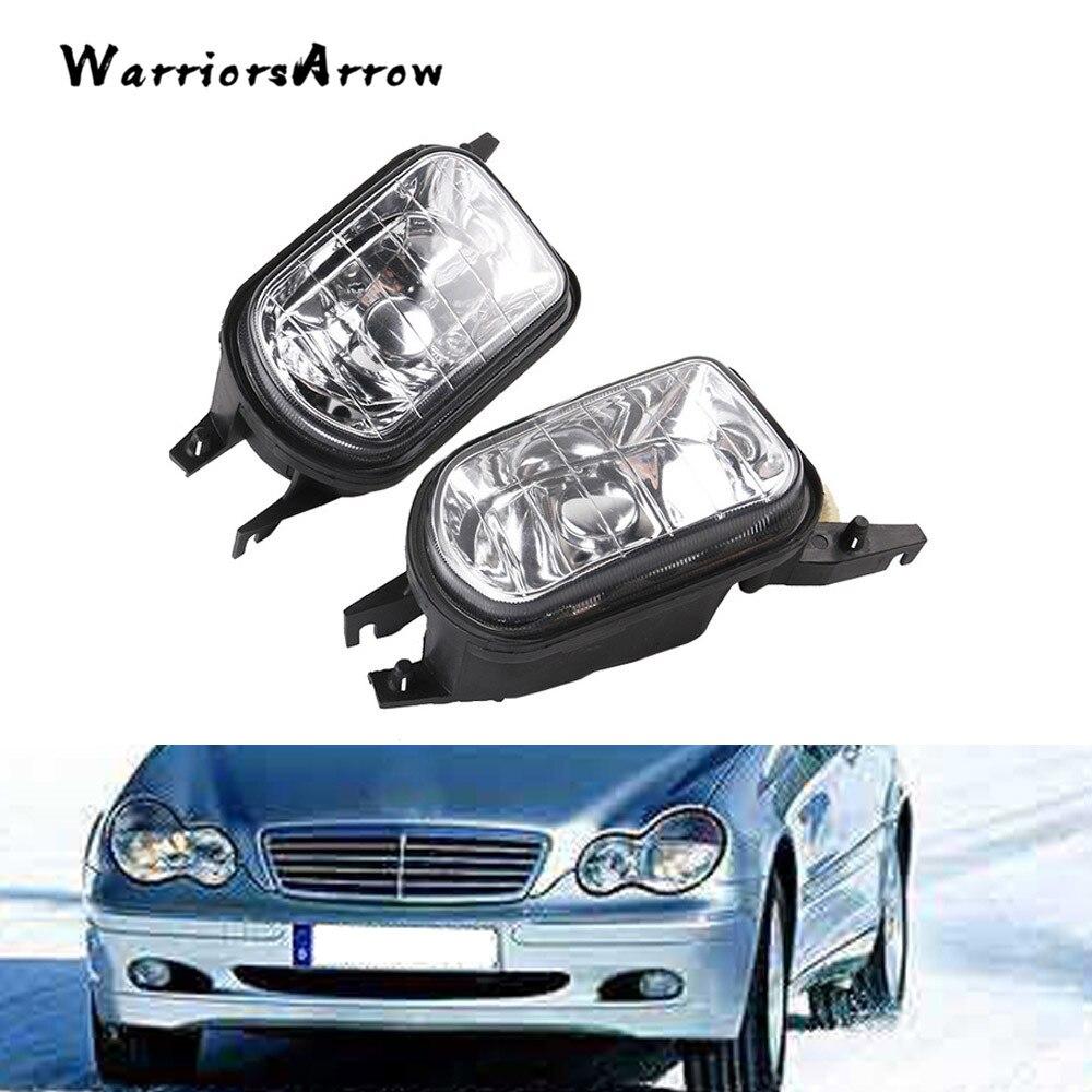 WarriorsArrow Pair L R Bumper Fog Light Lamp Foglight No Bulb For Mercedes Benz W203 C