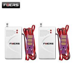 2 шт./лот Беспроводной 433 мГц утечки воды Датчик детектор вторжений работа с Fuers GSM голос домашней безопасности умный будильник