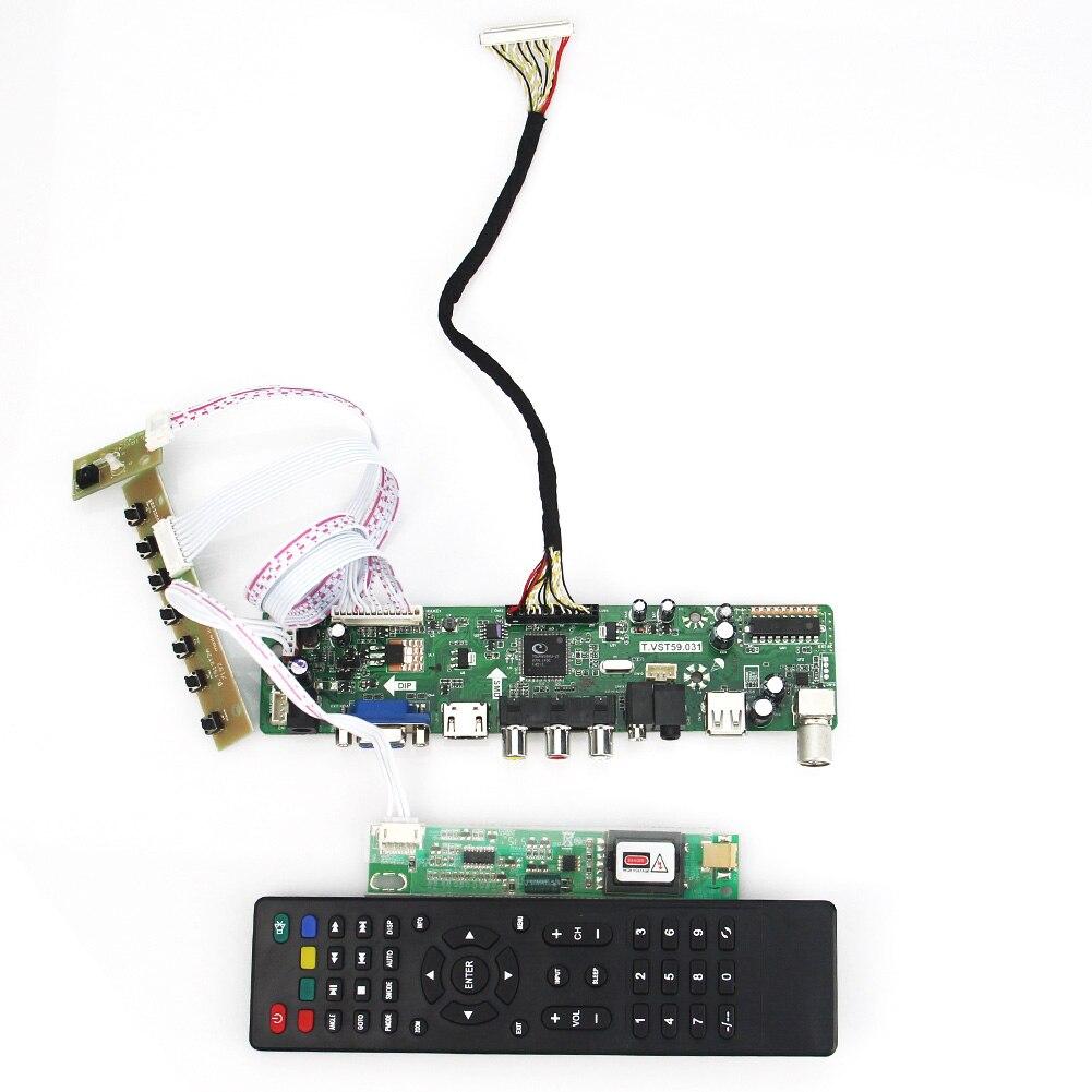 用ltn170bt08 B170PW07 v.0 t。VST59.03 lcd/ledコントローラドライバボード(tv + hdmi + vga + cvbs + usb) lvdsリユースノートパソコン1440 × 900  グループ上の パソコン & オフィス からの ビデオ & テレビチューナーカード の中 1