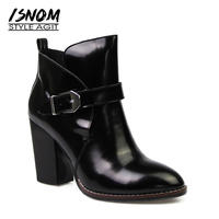 European Style Ankle Boots Super High Thick Heel Women Shoes Female Footwear Superstar Street Winter Boots