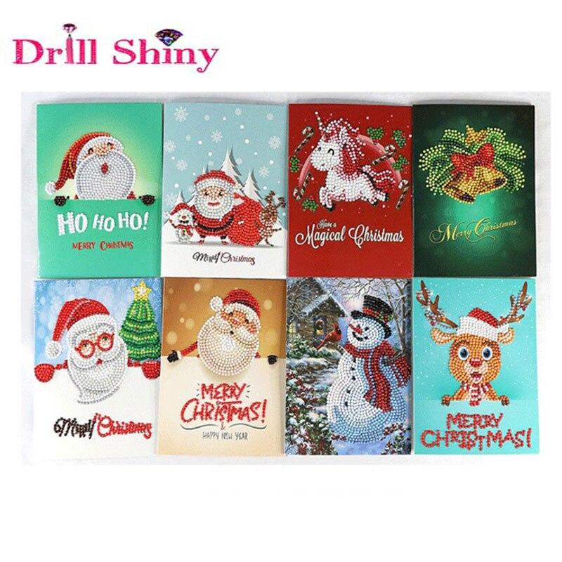 Diamond Painting Cartoon Mini Santa Claus Merry Christmas Paper