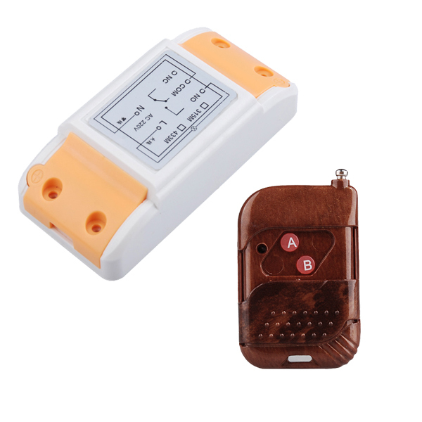 AC220V 1CH universal gate wireless remote control 433.92 light switch dimmer power tool switch momentary wireless remote switch 330mhz 8 dip switch 5326 auto gate duplicate remote control