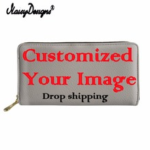 Customized Image Women Wallet Schnauzer 3D Printing Female P
