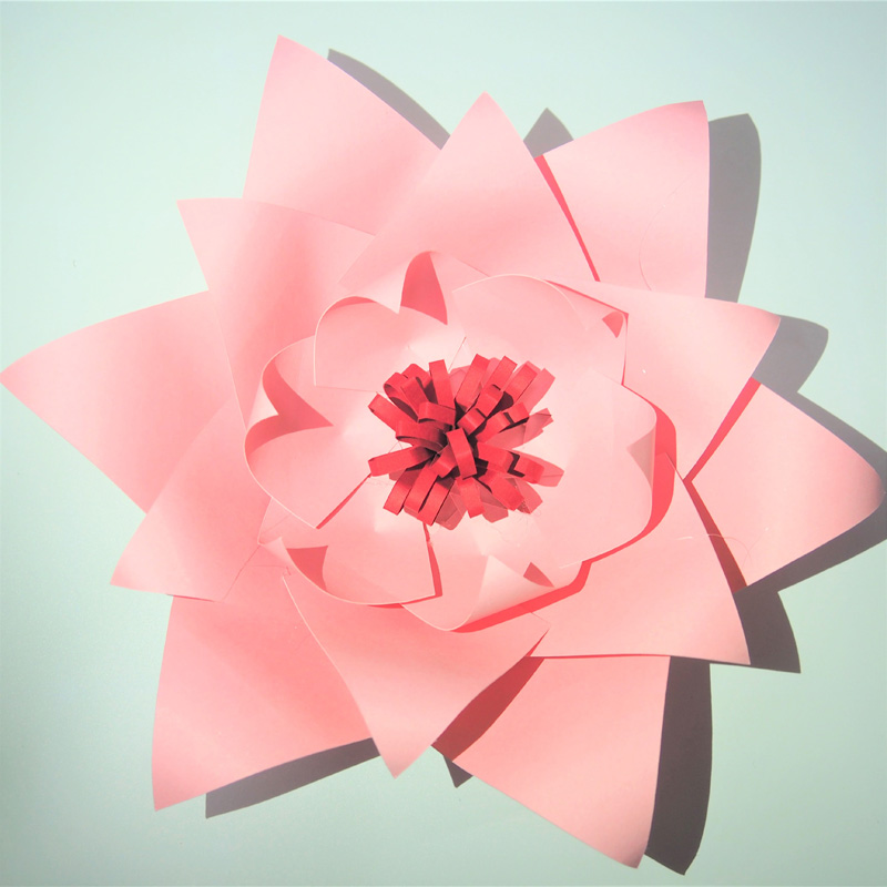 Origami Blaetter , 2018 2018 Pink Giant Paper Flowers Backdrop Leaves For Wedding