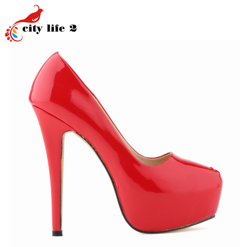 Large Size 40 42 font b Women b font Pumps Nightclub High Heels Shoes Waterproof Sapatos
