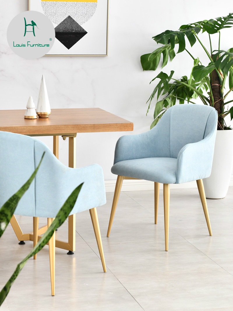 Louis fashion dining chairs household modern simple backrest leisure cafe