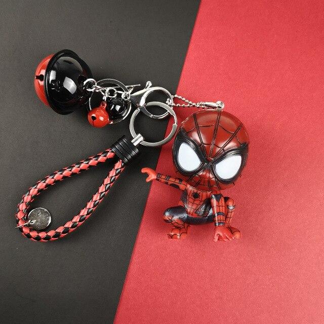 2019 Nova Moda Homem Aranha Filme Brinquedos Chaveiros Keychain Chave Do Carro Pingente Anel Spiderman Herói do Regresso A Casa Dos Homens Das Mulheres de Jóias