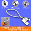 New Android IOS Type-C Portable Data Cable Short Data Line for DJI Phantom 3/4 pro + Inspire 1