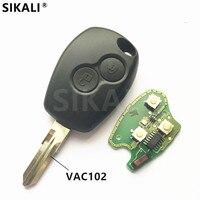 2 Buttons Car Remote Key 433MHz For Megane Modus Clio Kangoo Logan Sandero Duster PCF7946 PCF7947