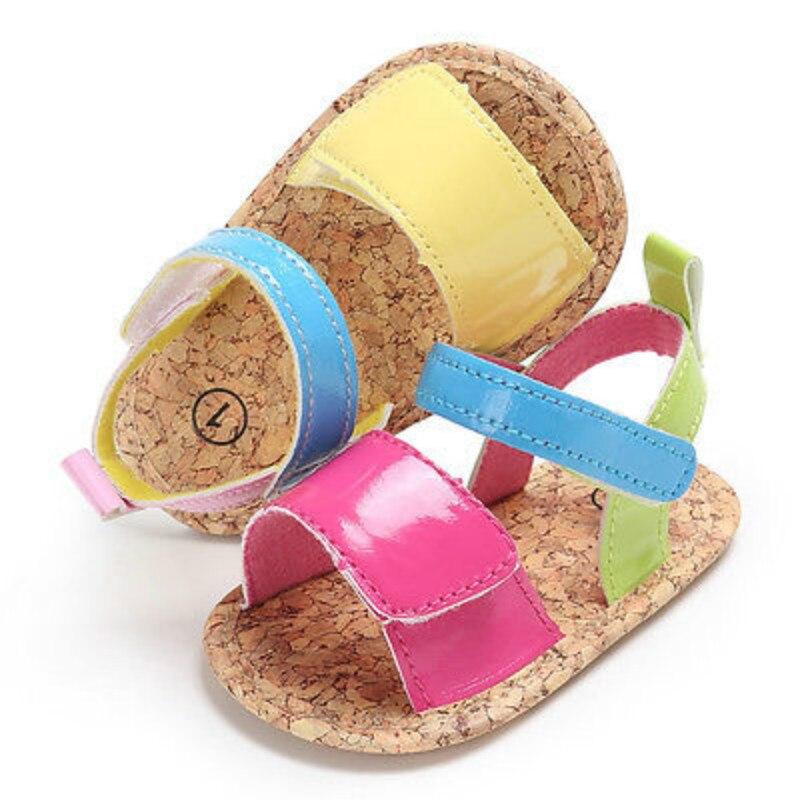 Newborn Baby Girls Infant Summer Sandal Clogs Anti-slip Soft Sole Plat Princess Shoes Infantil Anti-Slip Prewalker Mocassins