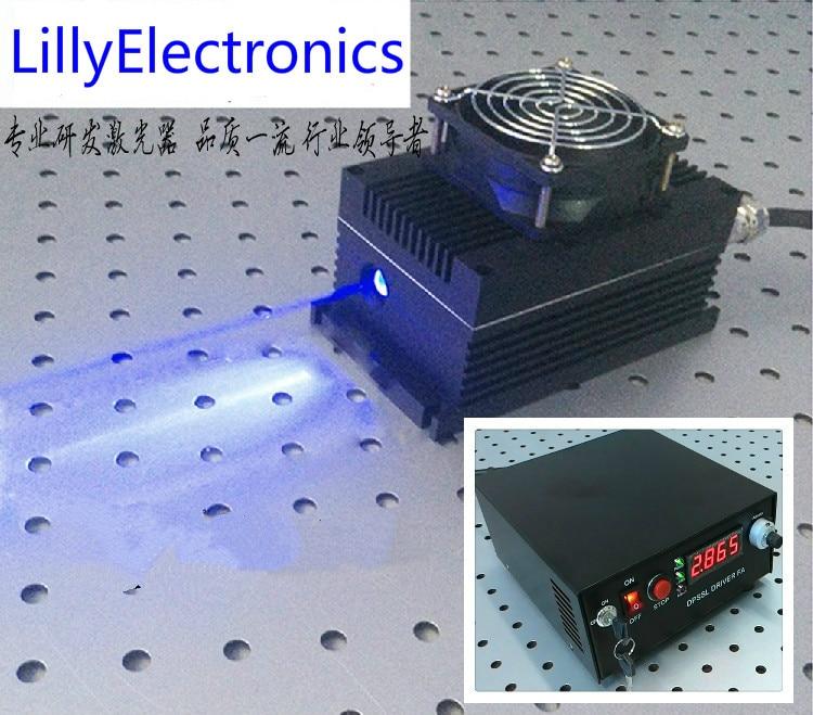 Industrial  Lab 465nm 4000mW 5000mW Violet BlueLaser Dot Module + TTL/Analog 0-30KHZ + TEC Cooling 24 hours working Industrial  Lab 465nm 4000mW 5000mW Violet BlueLaser Dot Module + TTL/Analog 0-30KHZ + TEC Cooling 24 hours working