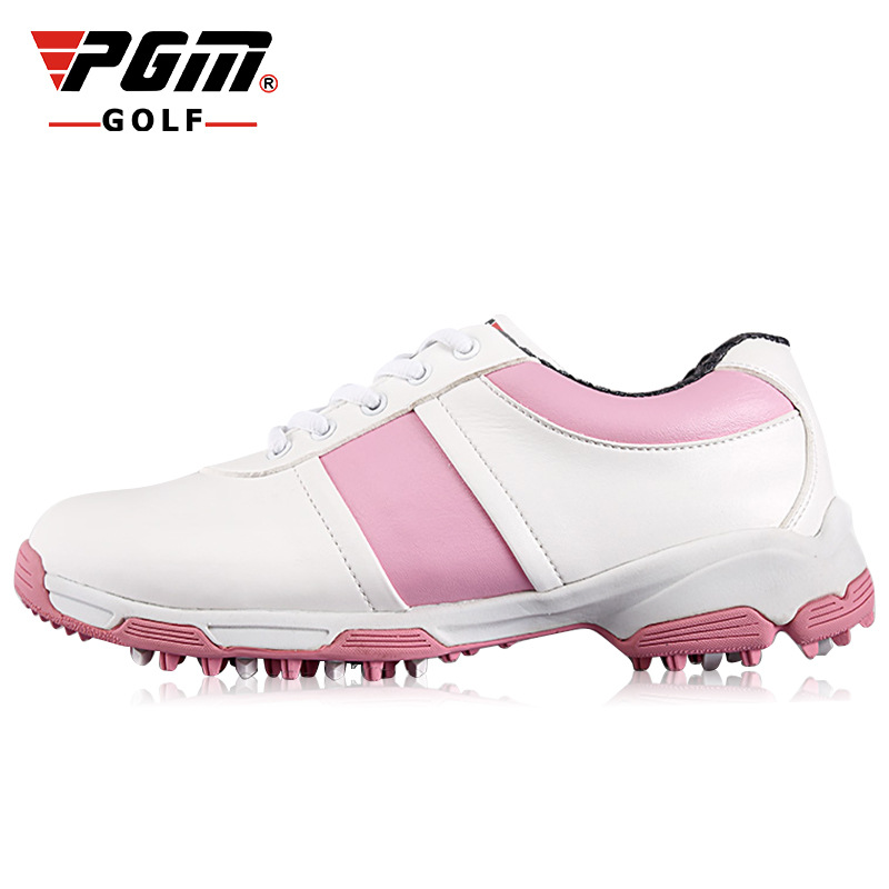 PGM Women Golf Shoes Anti Skid Sneakers For Outdoor Grass Breathable Waterproof Golf Shoes Ladies Professional Sport Wear Shoes