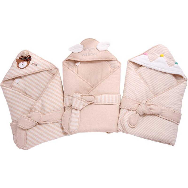 Baby Swaddling Blankets Infant Sleeping Sack Soft Baby Blankets Baby Receiving Blanket warm cobertor Newborn Swaddle Wrap blanc nature майка