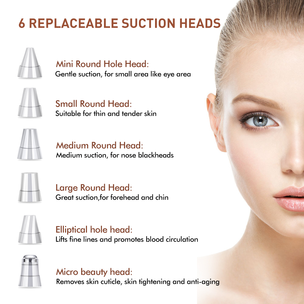 Head - Blackhead Remover Vacuum Pore Cleaner Electric Nose Face Deep Cleansing Skin Care Machine