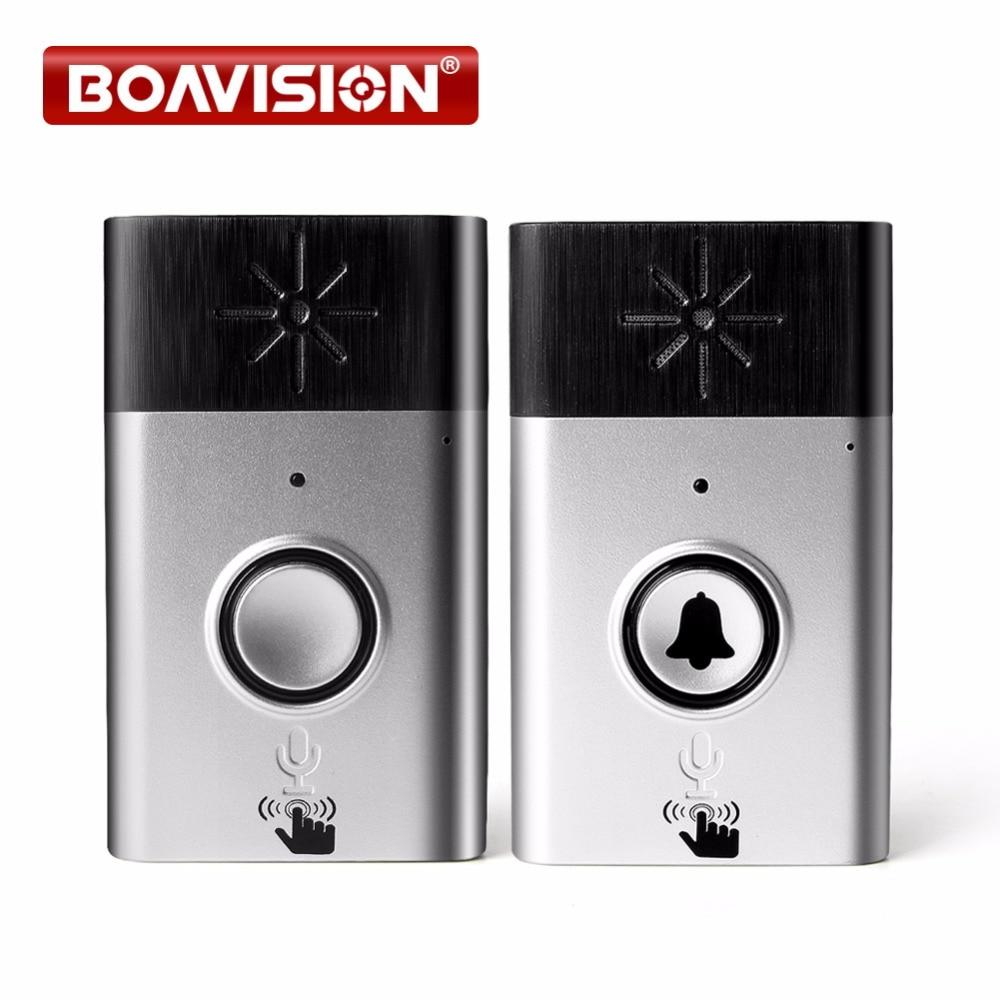 H6 Wireless Doorbell Voice Intercom 300M Distance Outdoor Transmitter Indoor Receiver Intelligent With Fixed Paste leds c4 tron 05 1549 54 h6