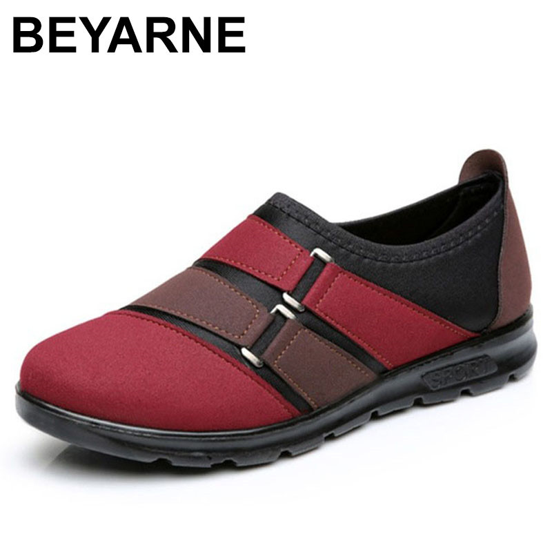 BEYARNE Brand shoes woman winter Boots flat Round Toe Short plush comfortable slip-on ankle boots for women Ladies botas mujer idg brand women slip on high heels short rough with the fall and winter metal buckle rivets shoes woman zapatos mujer tacon