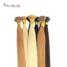 Pure Color Keratin Fusion Hair Extensions 16-28″ 100pcs Stick Tip Hair Extensions Brazilian Virgin Hair