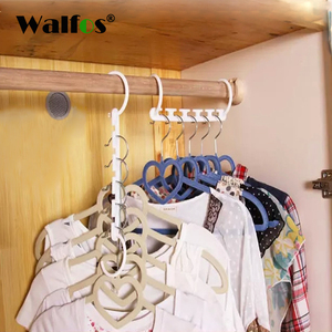 1 pc Space Saving Hanger Plastic Cloth Hanger Hook Magic Clothes Hanger With Hook Closet Organizer(China)