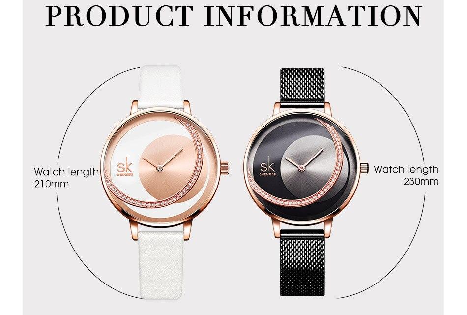 SK Shengke Rhinestone Watches For Women Brand Ladies Quartz Wrist Watch Reloj Mujer 2019 Luxury Stainless Steel Women Watch xfcs (12)