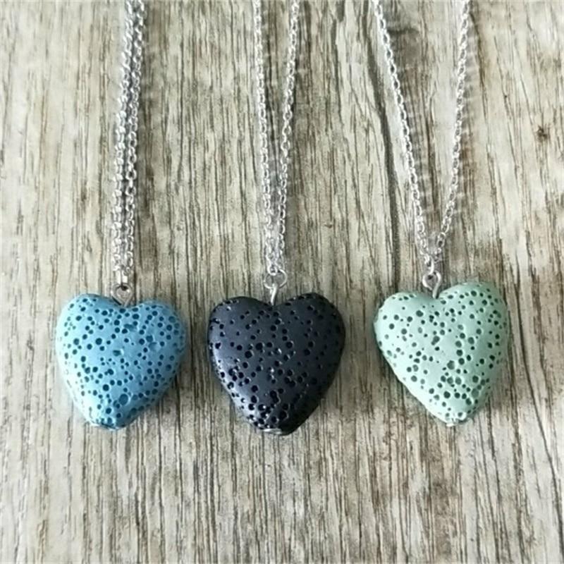 12 colors Heart Lava Stone Aroma Essential Oil Diffuser s