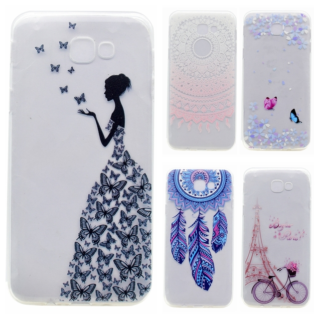 quality design c156e 813b8 US $1.99 |Soft TPU Case sFor Samsung Galaxy J5 Prime case For Fundas  Samsung J5 Prime Cover Phone case Butterfly girl Transparent Capa-in  Half-wrapped ...
