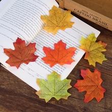 купить 5pcs/lot Artificial Silk Maple Leaves Vivid Leaf for Photography Props Photo Studio Background DIY Craft Scrapbooking Decoration по цене 65.34 рублей