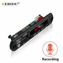 KEBIDU декодирующая плата модуль Bluetooth MP3 светодиодный 12 В DIY USB TF fm-радио модуль беспроводной Bluetooth декодер запись mp3-плеер