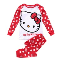 Pyjamas Kids Girls Baby Pajamas Christmas Sleepwear Hello Kitty Pajamas For Girls Children Cartoon Cat Pijamas
