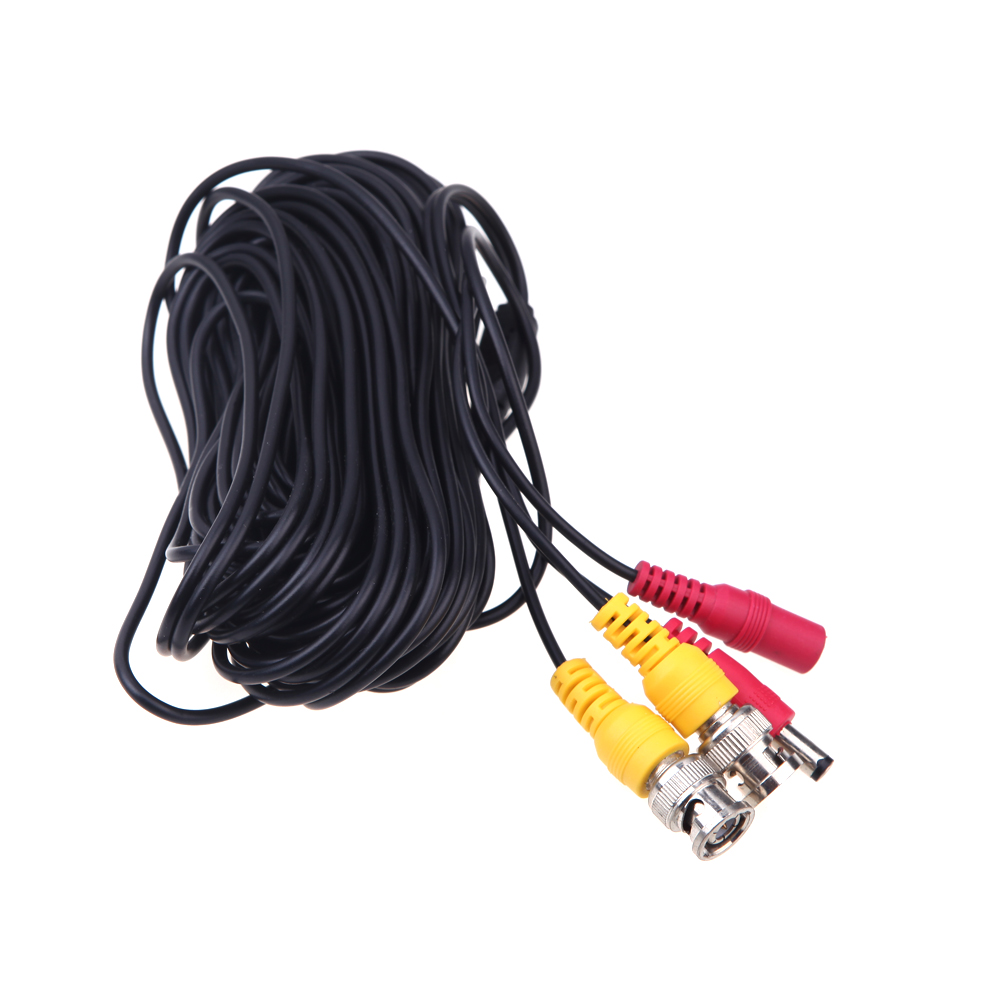 32ft 10m CCTV Accessories BNC Video +DC Extension Power cord/cable CCTV Extender for Security Camera Free Shipping