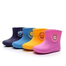 Rain Boots Kids for Boys Girls Rain Boots Waterproof Baby Non-slip Rubber Animals Water Shoes Children Rainboots four Seasons цена