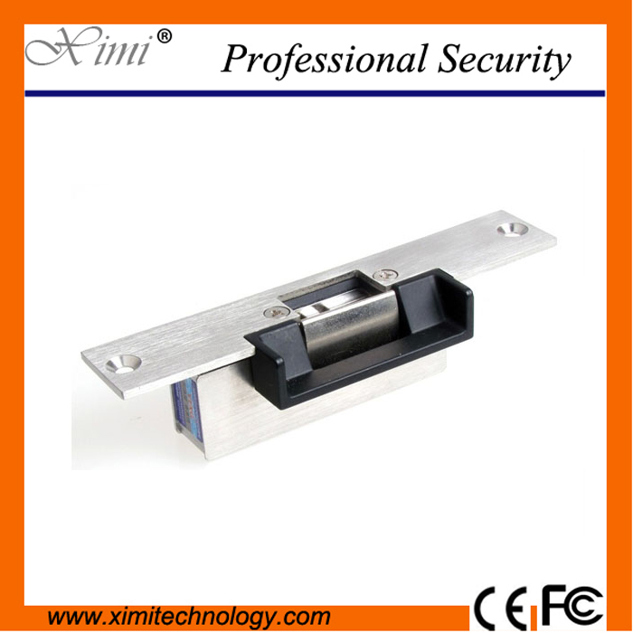Smart door lock electric strike narrow mouth NO type power to open for access control system cheap high quality electric lock ansi standard heavy duty electric strike lock 800kg holding force glass door electric strike power to unlock lock adjustable