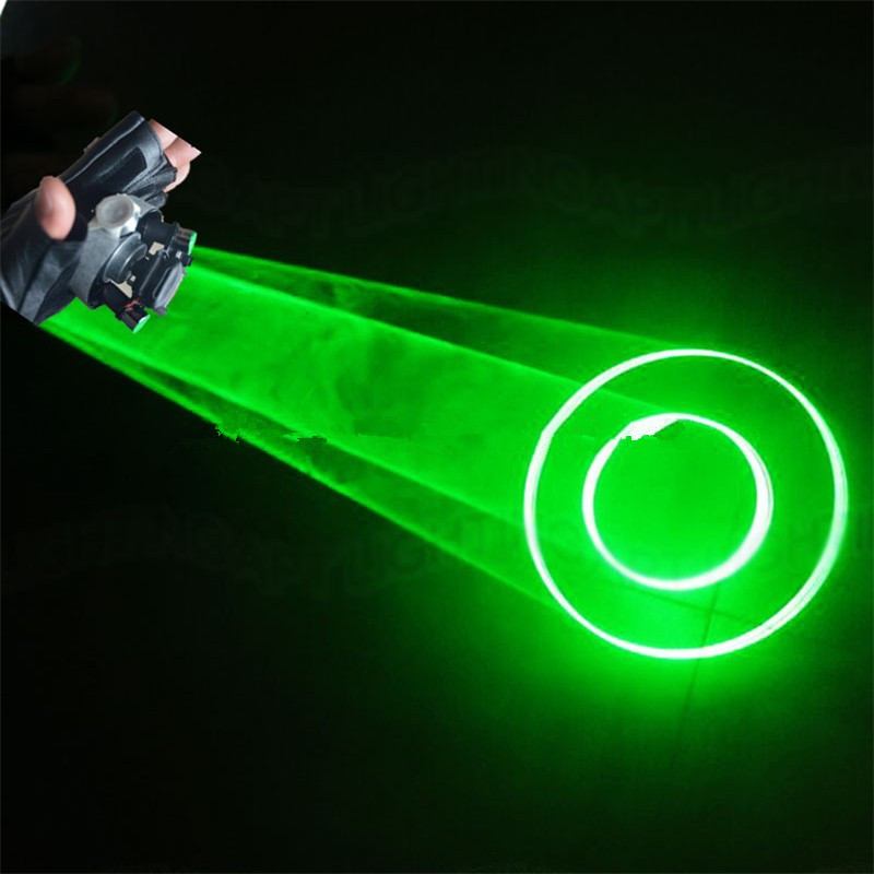 532nm Green Swirl Laser Man Show Gloves Vortex Effect Stage Laser lighting Gloves With Double Green Lasers