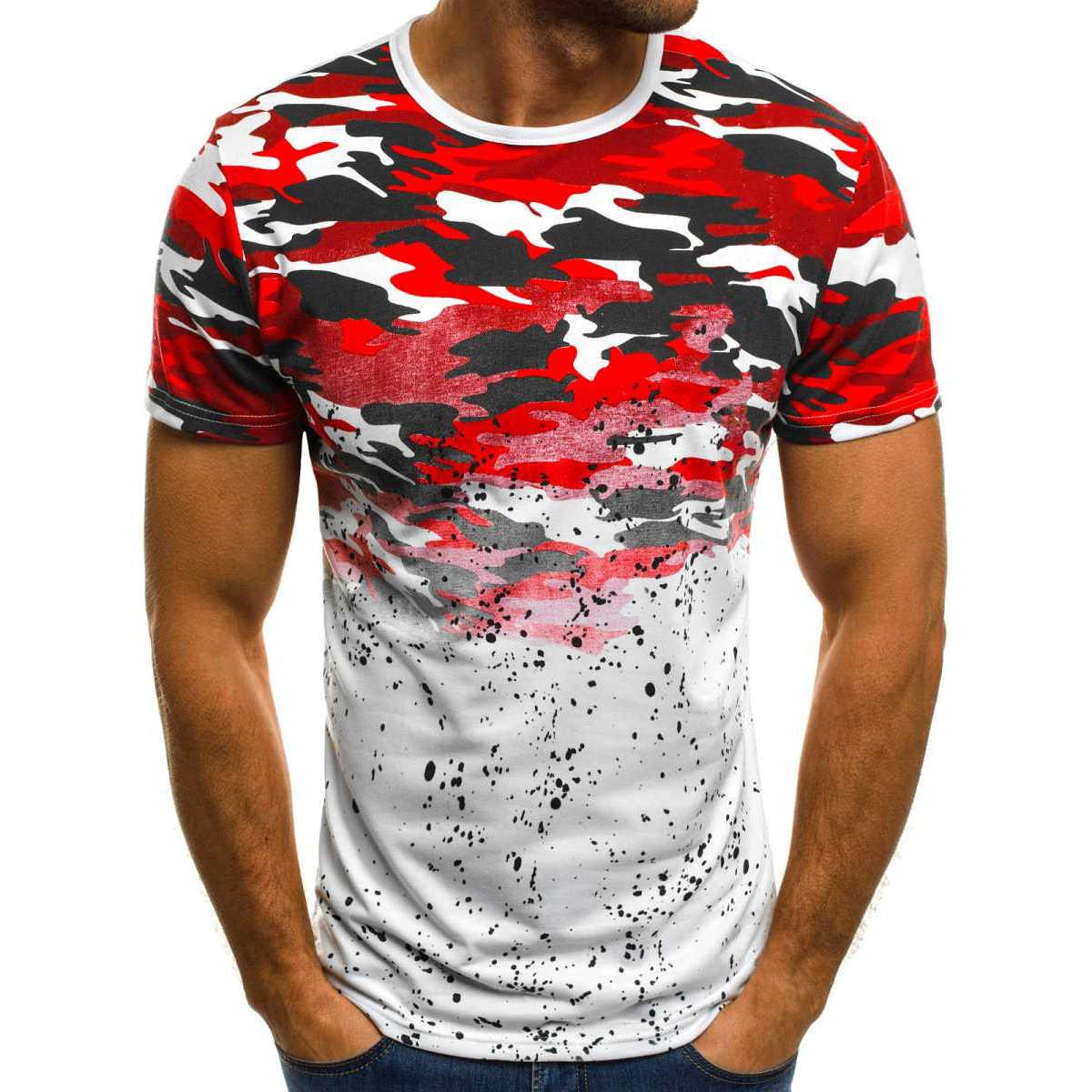 FLYFIREFLY 迷彩 Tシャツシャツ 2019 新ボトムストップ Tシャツ男性ファッションストリートカジュアル Tシャツドロップシッピング