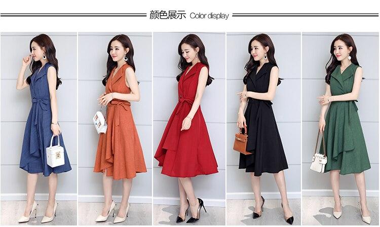 Summer-Sleeveless-Workwear-Elegant Dress