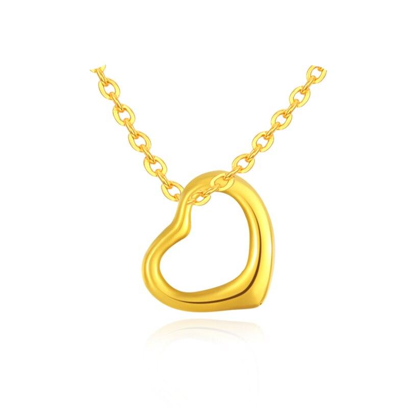 Pendentif en or jaune pur 24K 999 pendentif en or jaune