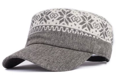 Cadet cap male women s the trend of the spring and autumn winter wool hat  fashion pattern personality military hat 6b8ec2a795e