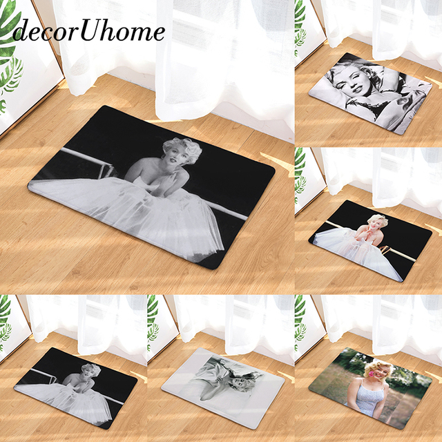 Decoruhome Hot Welcome Waterproof Floor Mat Marilyn Monroe Kitchen Rugs Bedroom Carpets Decorative Stair Mats Home
