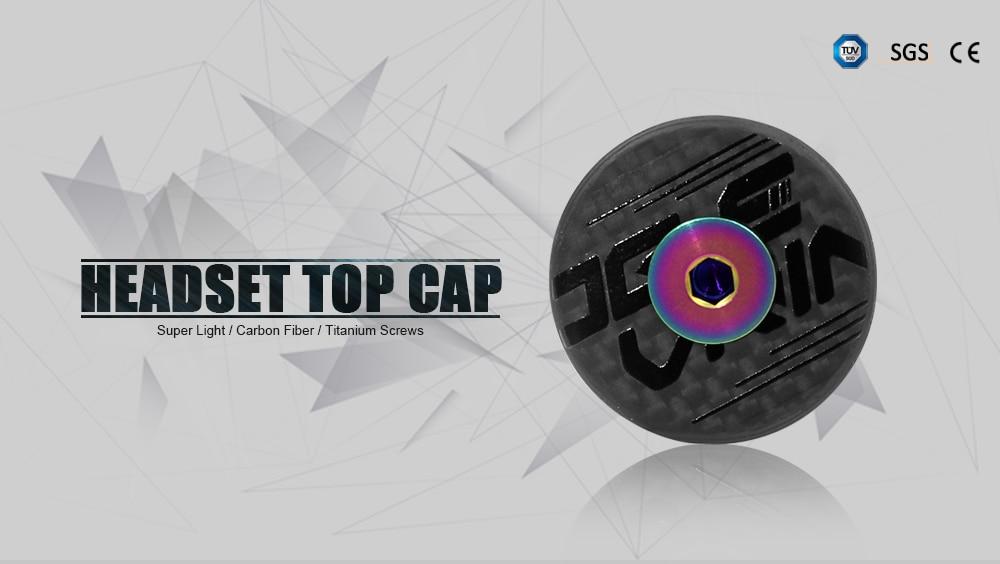 """Carbon Fiber Headset Top Cap Titanium Bolt M6 x 35mm 1-1//8/"""" Super Light 6.2G"""