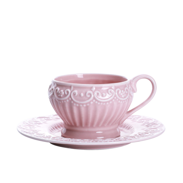High quality Rococo style coffee cup with plate vintage coffee tools 2PCS\\SET cup+  sc 1 st  AliExpress.com & High quality Rococo style coffee cup with plate vintage coffee tools ...