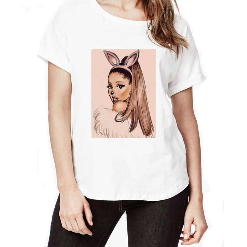 eced3a25bcc ariana grande 2018 Brand Slim Short Sleeve Summer Women's T-shirt Casual  Female Tops Tees