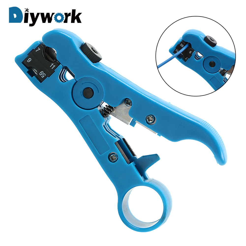 Handwerkzeuge WunderschöNen Diywork Draht Kabel Zangen Elektrische Abisolieren Werkzeuge Multi-functional Striper Für Utp/stp Rg59 Rg6 Rg7 Rg11 Online Rabatt
