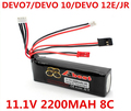 Walkera 2200mAh 11.1V 8C Li-Po Battery for DEVO 7 DEVO 10 DEVO 12E DEVO F12E JR Transmitter Li-poly RC Battery Free Shipping