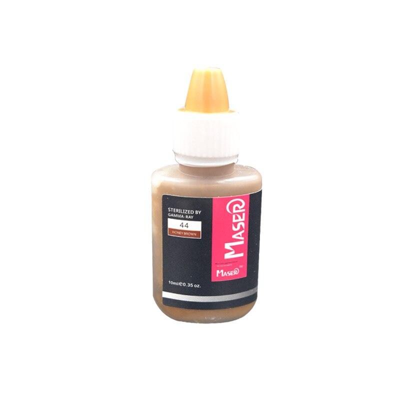 귀영 나팔 잉크 1 병 44 꿀 브라운 10ML Biomaser 직업적인 영원한 메이크업 눈썹 입술 문신 작은 안료 잉크