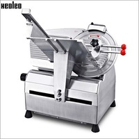 Xeoleo Commercial 12 Inch Automatic Meat Slicer Machine Frozen Meat Slicer Aluminium Magnesium Alloy Material Meat