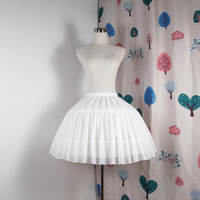 E JUE SHUNG Ball Gown Underskirt Short Dress Cosplay Petticoat Chiffon Tow Bones Lolita Petticoat  Ballet Rockabilly Crinoline