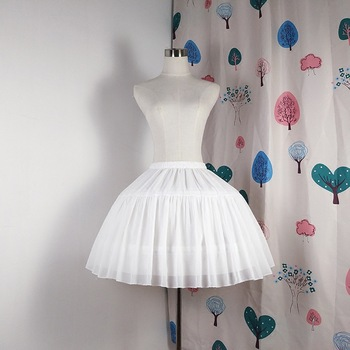 E JUE SHUNG suknia balowa podkoszulek krótka sukienka Cosplay halka szyfonowa Tow Bones halka lolita balet Rockabilly krynolina tanie i dobre opinie Poliester Dla dorosłych Przędzy barwionej Kiecka