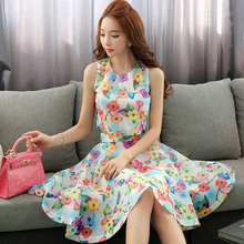 dabuwawa two pieces set 2016 new summer slim fashion casual high waist o neck printed blouse + skirt sets women pink doll