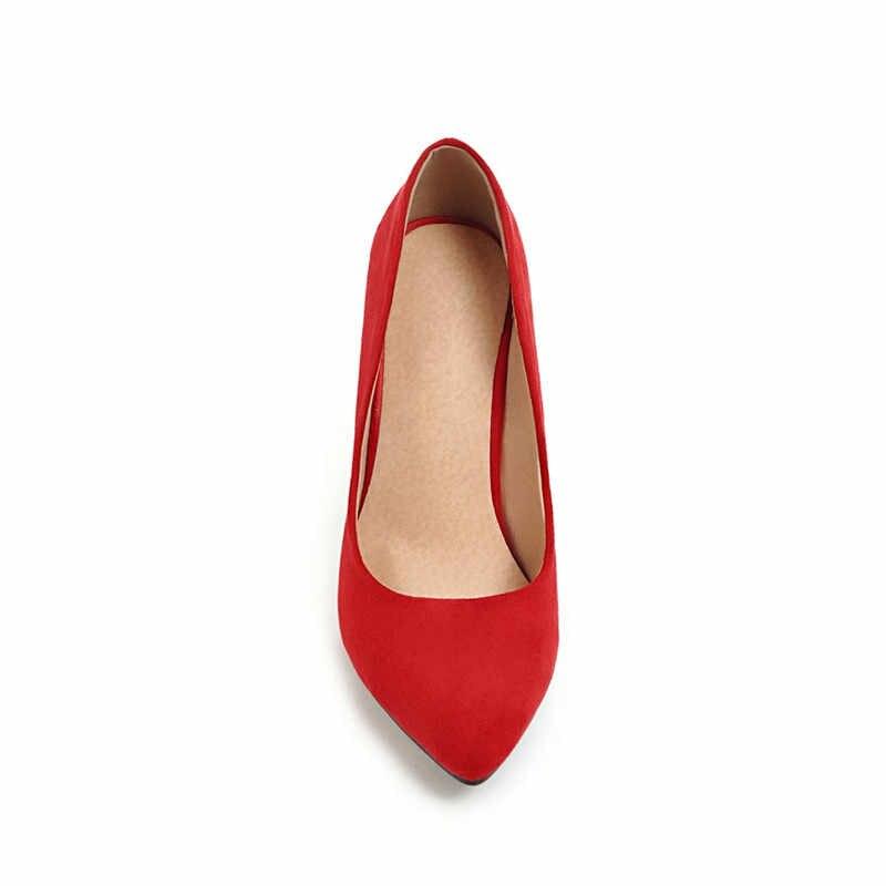 ZJVI/модные женские туфли-лодочки с острым носком; сезон весна-осень; пикантные замшевые туфли на высоком тонком каблуке 10 см; красная Свадебная обувь черного цвета для работы